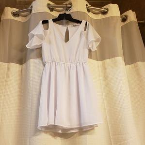 Stilettos white mini dress